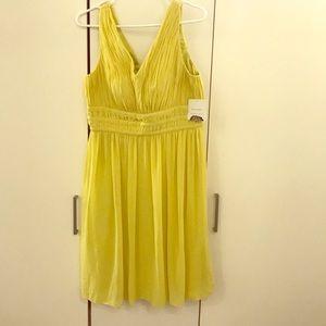 Yellow Donna Morgan dress $30